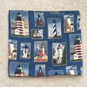 Lighthouse pillow cover
